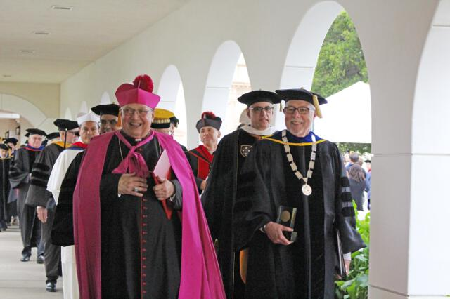 … as do Bishop Morlino and President McLean.