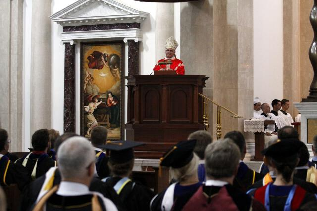 Archbishop Coakley delivers the homily.