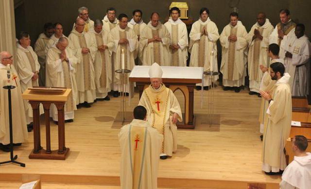 Fr. Reginald vests amongst the concelebrants