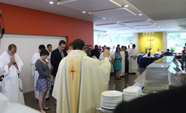 Fr. Reginald give his first priestly blessing.