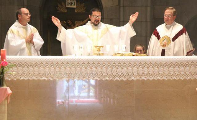 Fr. Reginald with concelebrants