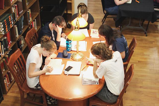 Study Hall in St. Bernardine of Siena Library