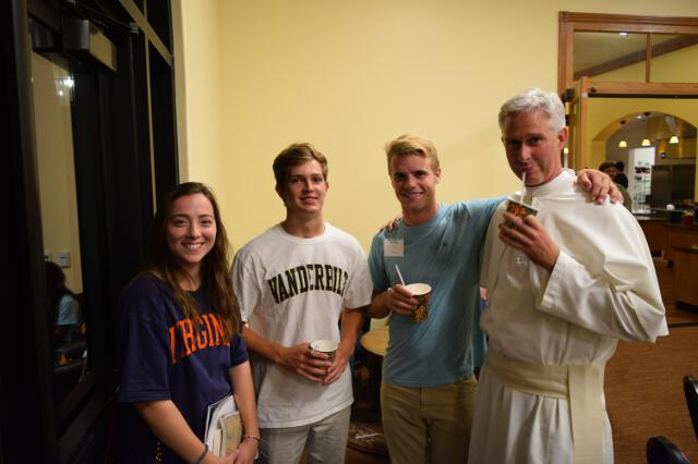Fr. Sebastian with students