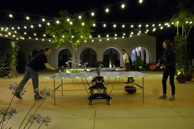 Ping-pong on the St. Gladys patio
