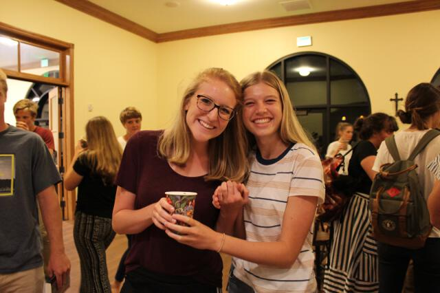 Students gather for the last night of Coffee Shop