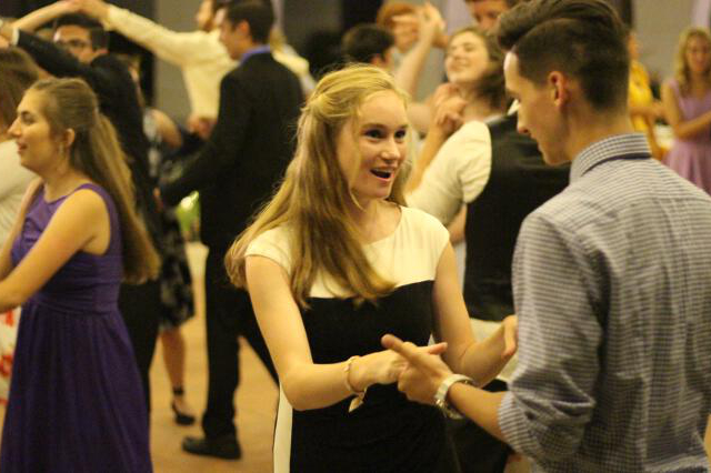 Students at the Gala Dance