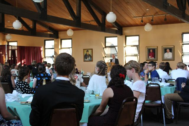 Students at the Gala dinner