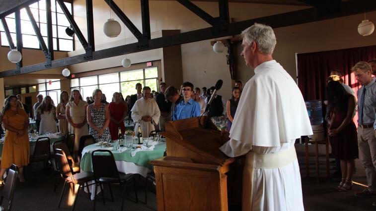 Fr. Sebastian gives the benediction