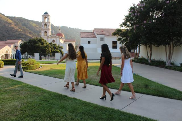 Students depart