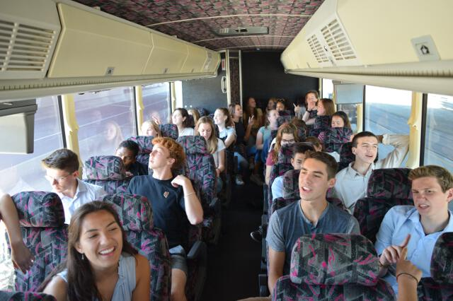 On the bus to the Getty Center