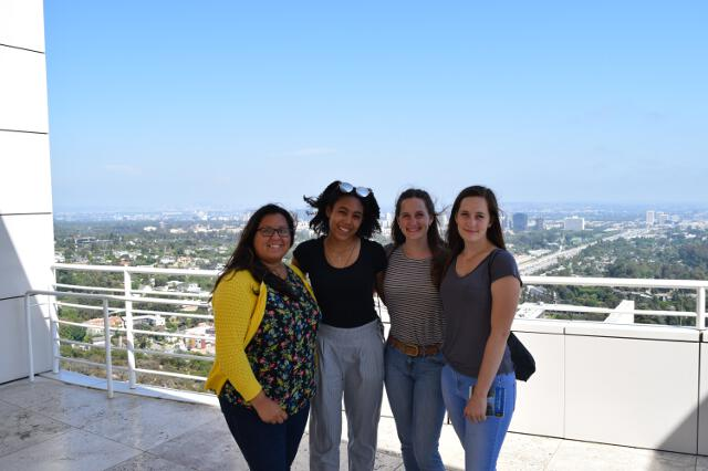 Students outside of the Getty Center