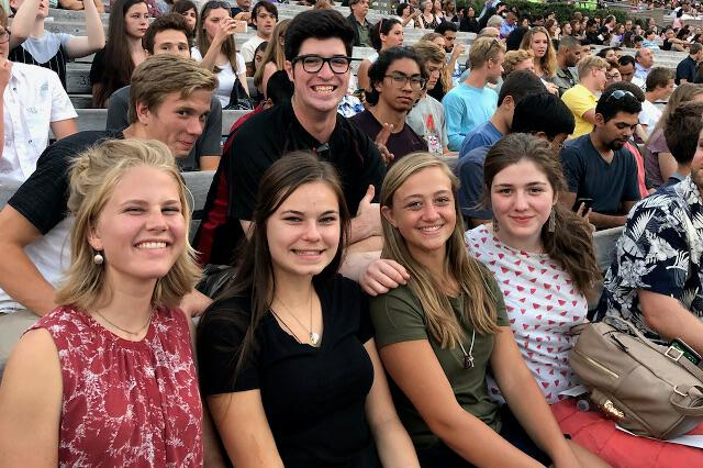 Students at the Hollywood Bowl