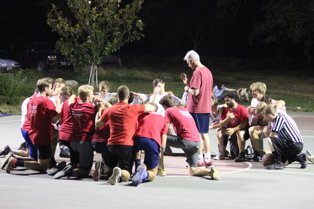 Prayer before the game