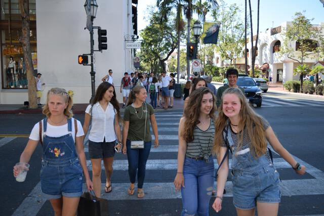 Students in Santa Barbara