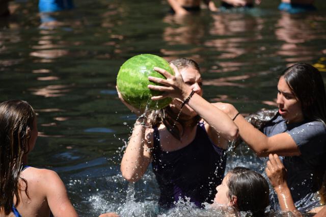 Women's water(melon) polo match