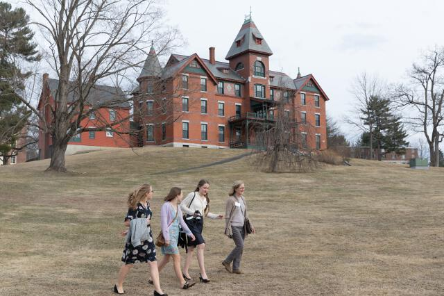 Guests tour the campus.