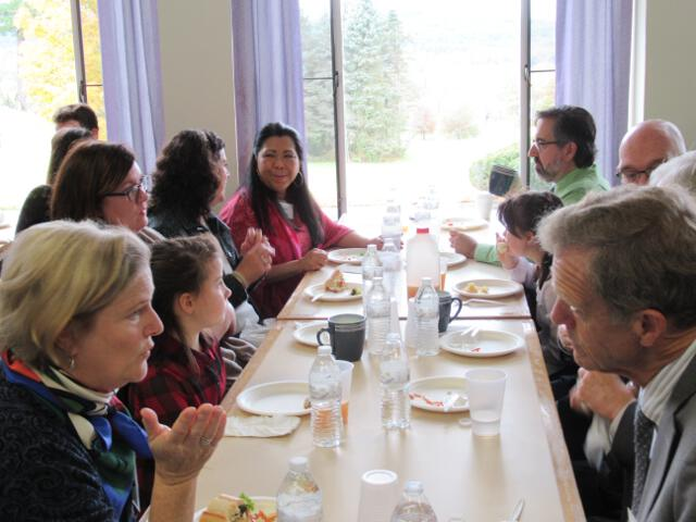 Friends of the College gather for the luncheon in Hibbard Hall