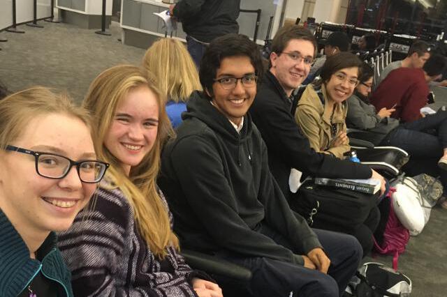 Students at LAX