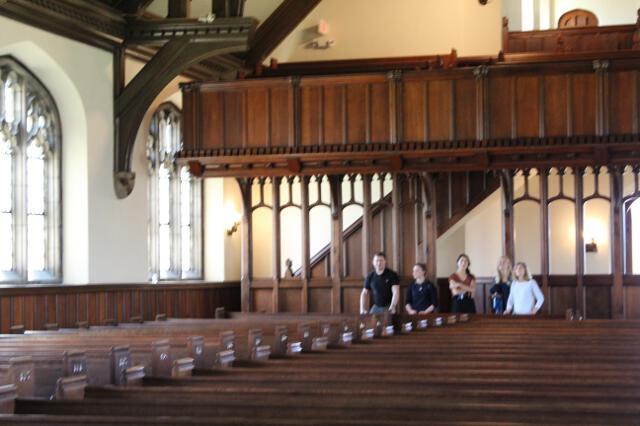 Visiting the chapel
