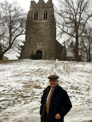 Dr. McLean at Sage Chapel on the New England campus