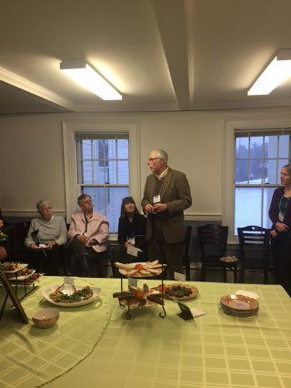 Dr. McLean with members of the Northfield Board of Selectmen