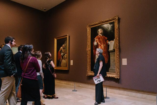 Mrs. Grants gives students a tour of the Norton Simon Museum