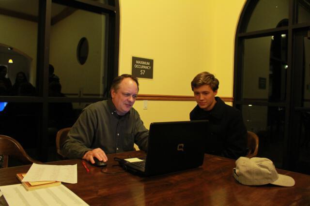 Dr. Wodzinski with a student