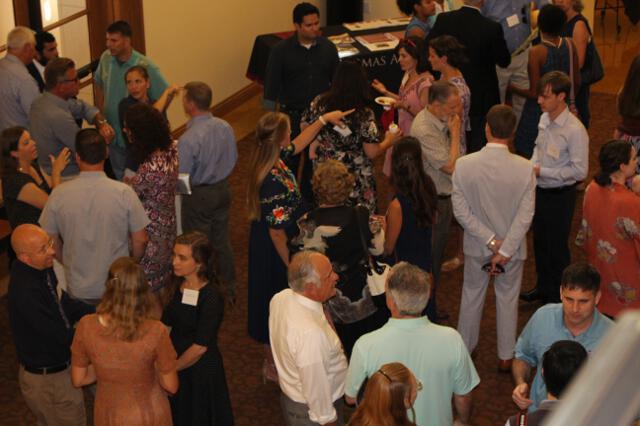 Reception in St. Cecilia Hall foyer