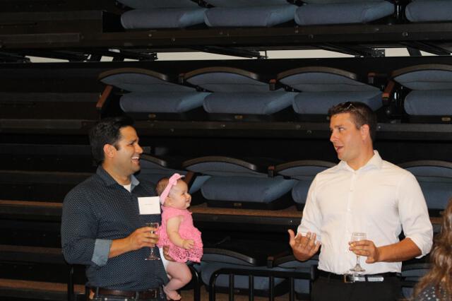 Alumni visit in Fritz B. Burns Auditorium