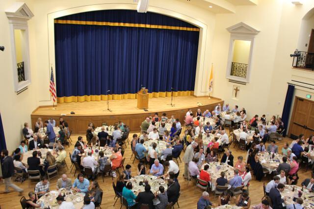 Dinner in the Fritz B. Burns Auditorium