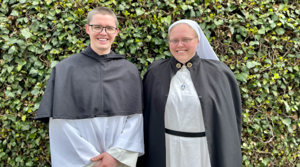 Br. Edward ('16) and Sr. Felicity ('14)