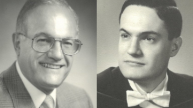 Two photos of Dr. Herny J. Zeiter over the years