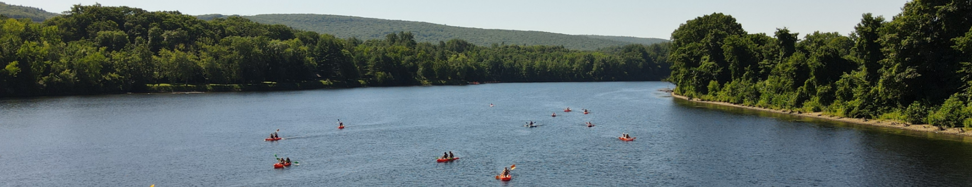 Kayaking along the Connecticut River